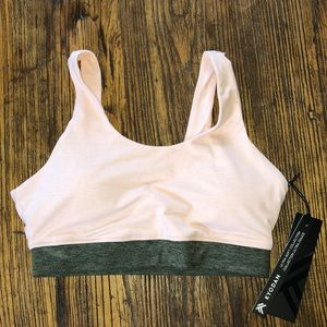 Kyodan soft sports bra M blush pink army green